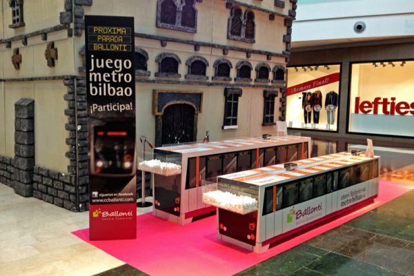Juego metro Bilbao en CC Ballonti