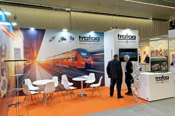 Stand de diseño Trafag. Rail Live 2019. BEC